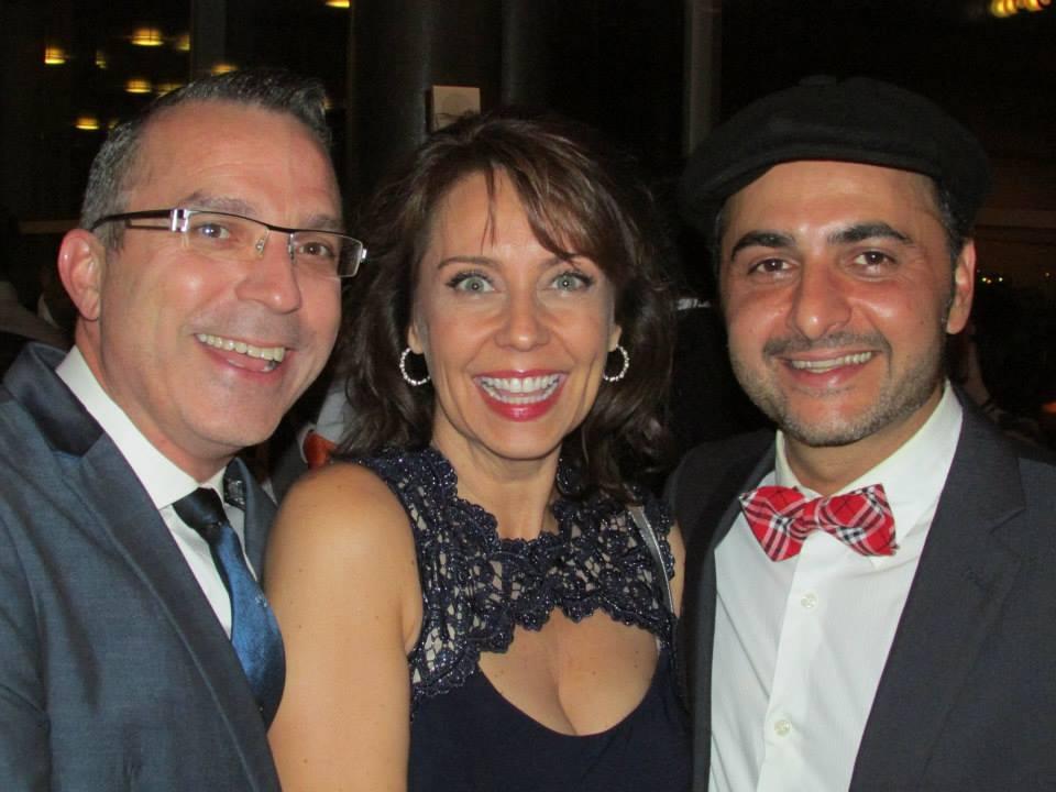 Terry Gadaire, Debby Rosenthal and Pasha Yamotahari at the 2014 ariZoni Awards. (Photo by Brenda Goodenberger)