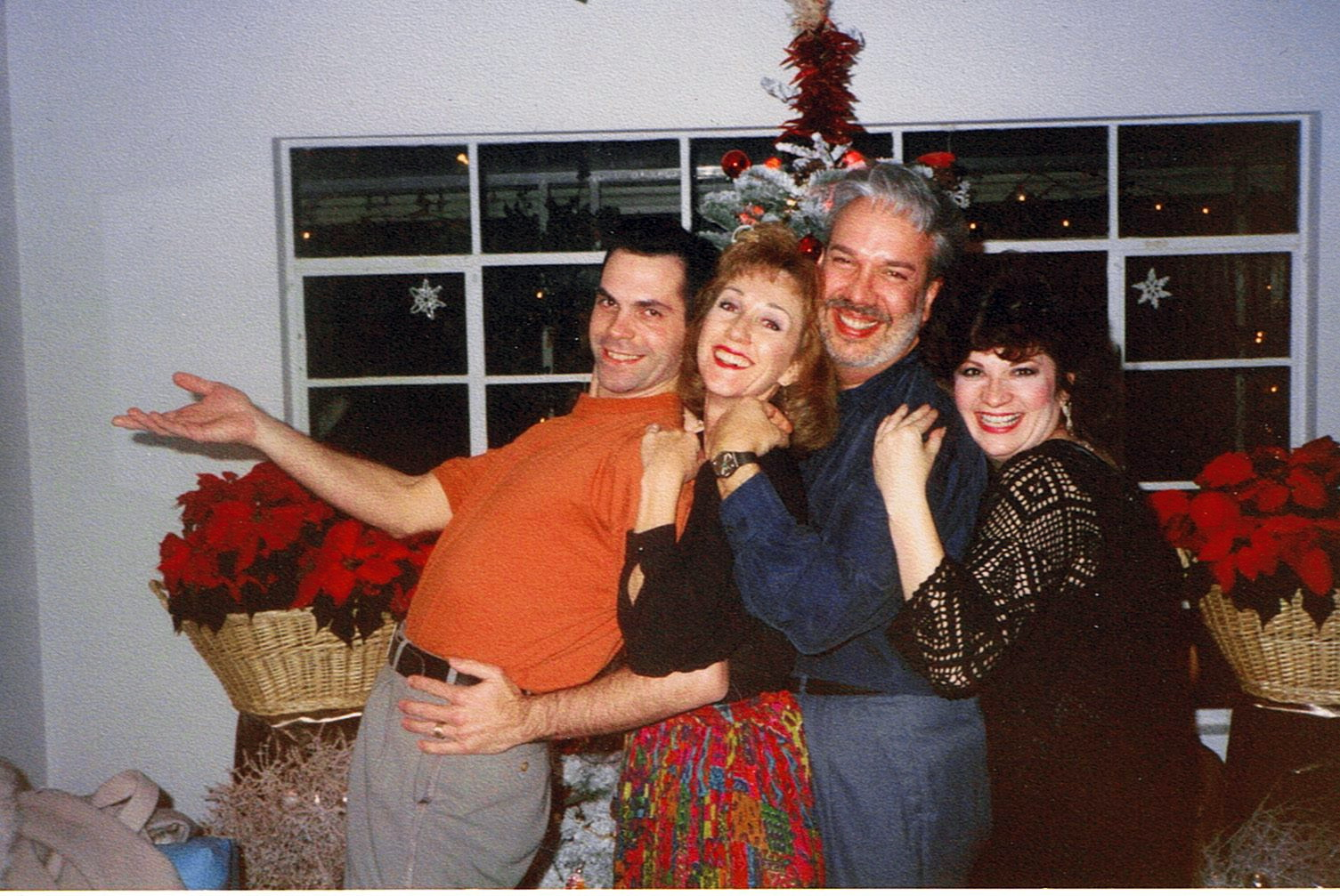 Hamming it up for the camera at a Christmas party back in the day. From left, Bobby Locke (Robert Locke), Linda DeArmond, Jerry Wayne Harkey and Robyn Ferracane.