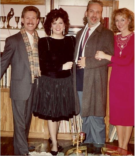 All dressed up for a party: Michael Barnard, Robyn Ferracane, Jerry Wayne Harkey & Linda DeArmond.