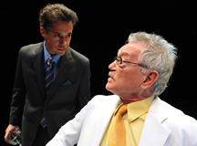 Richard Trujillo and an unidentified actor appear in Culture Clash's Water & Power, directed by Sam Woodhouse at San Diego Rep. (Photo courtesy of Richard Trujillo.)