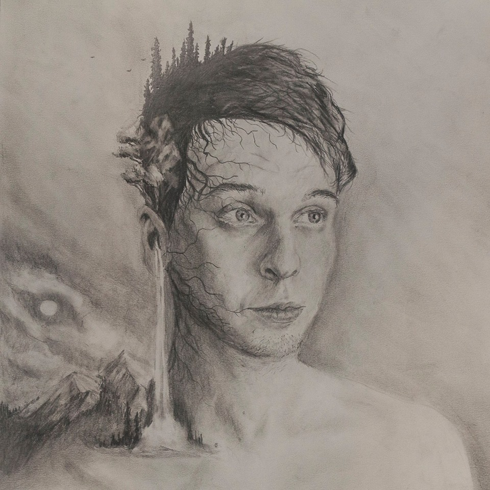 In turn, Cole did this beautiful pencil portrait of Brandon.