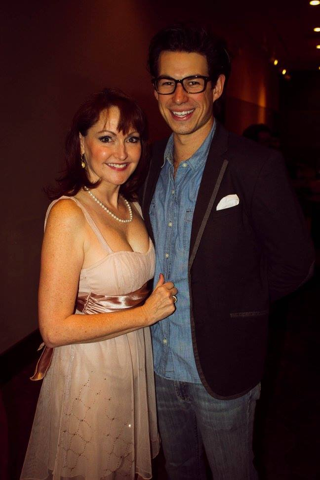 Janine Smith and Joel Duke on a night out at the Palms Theatre.