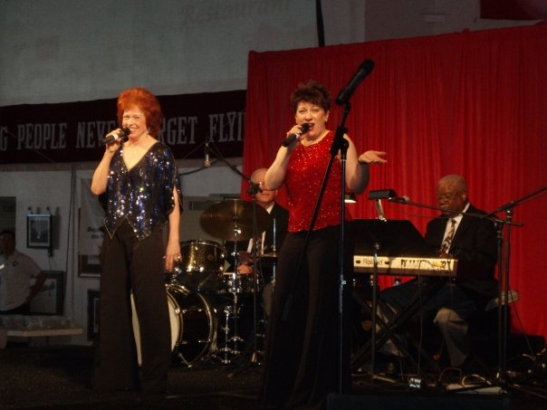 Kathy Donald Jazz Ensemble USO Show (2009) — with Kathy Donald at Night in the 40s Dance. Photo credit unknown.
