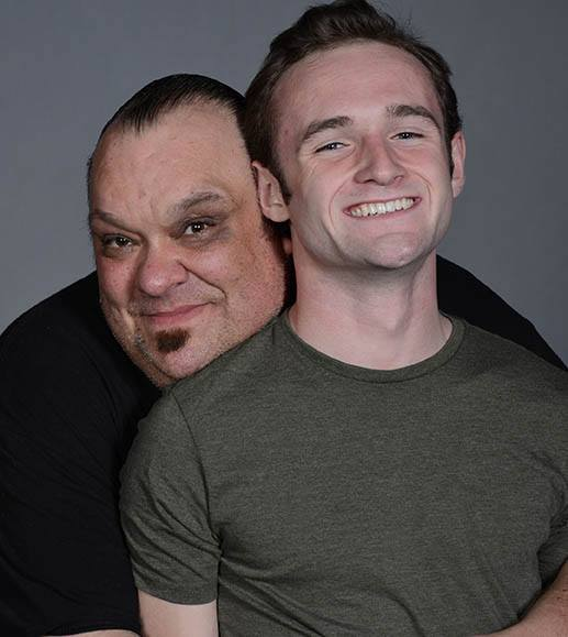 Nearly Naked Theatre 2014. Valhalla. Revival. Director Damon Deering with Cole Brackney. (Photo credit not provided)