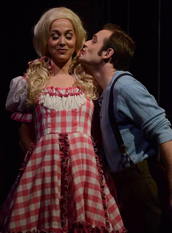 Nearly Naked Theatre Company. 2014. Vahalla. Portia Beacham, Cole Brackney. Photo by Laura Durant.