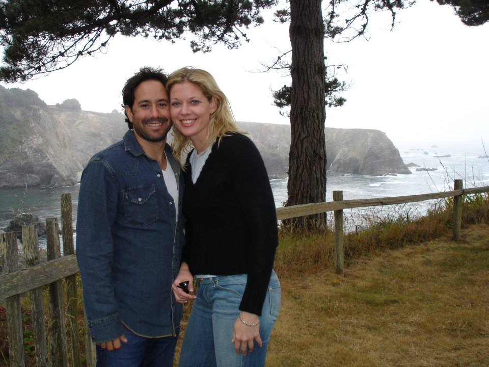 Michael Tassoni, Krissy Tassoni, at Mendocino, Calif. 2015