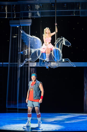 Arizona Theatre Company. 2014. Xanadu. Dane Stokinger and Jessica Skerritt. Photographer not credited.