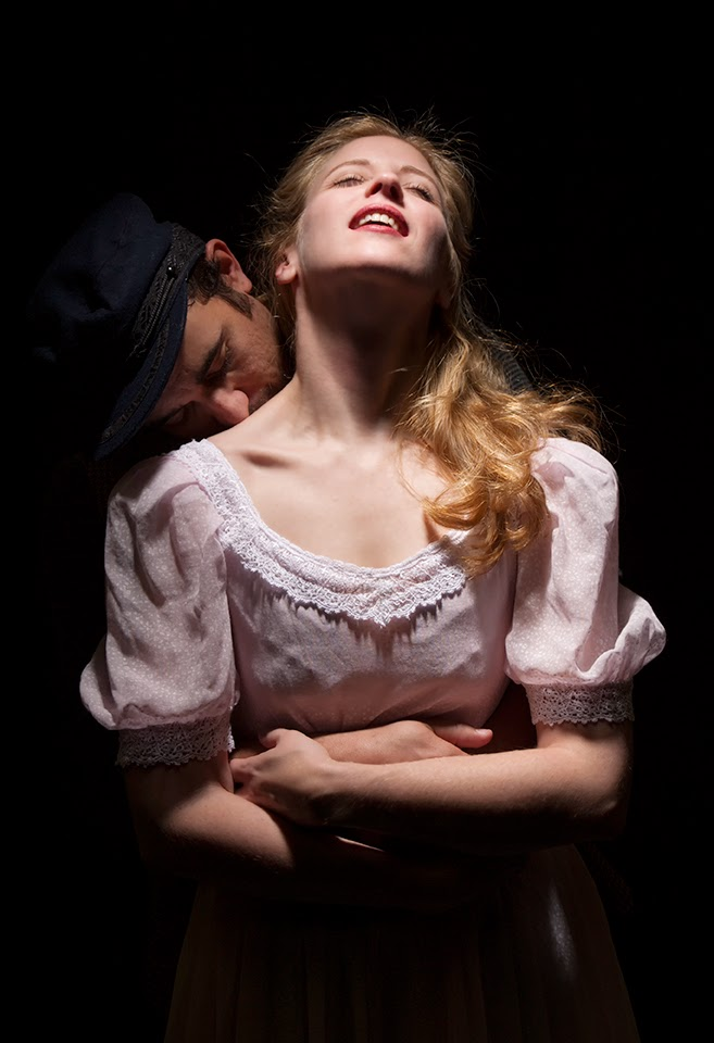 "Joseph Cannon and Sarah Wolter in ""Carousel"" at Mesa Encore Theatre (2015)."