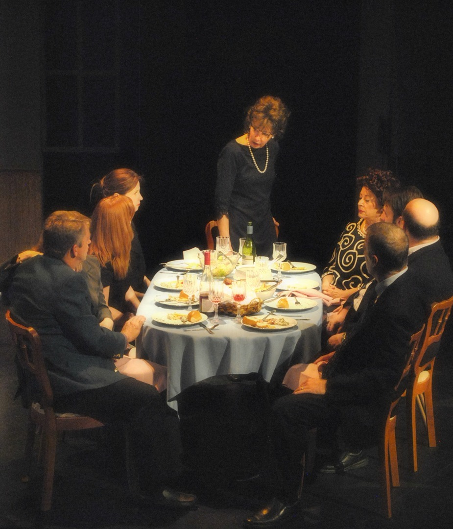 "Family drama - or more aptly, family trauma - around the dinner table in Phillip Fazio's production of ""August: Osage County'' for Mesa Encore Theatre. Photo courtesy of www.phillipfazio.com"