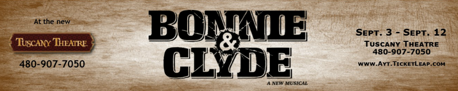 """Actors Youth Theatre debuted a new musical, """"Bonnie and Clyde,"""" in September, 2015"""