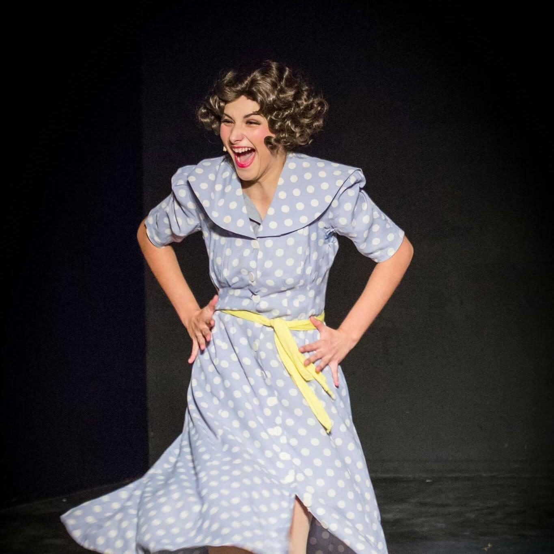 "2015. Katie Czajkowski as Peggy Sawyer in ''42nd Street."" (Photo courtesy of the theater)"