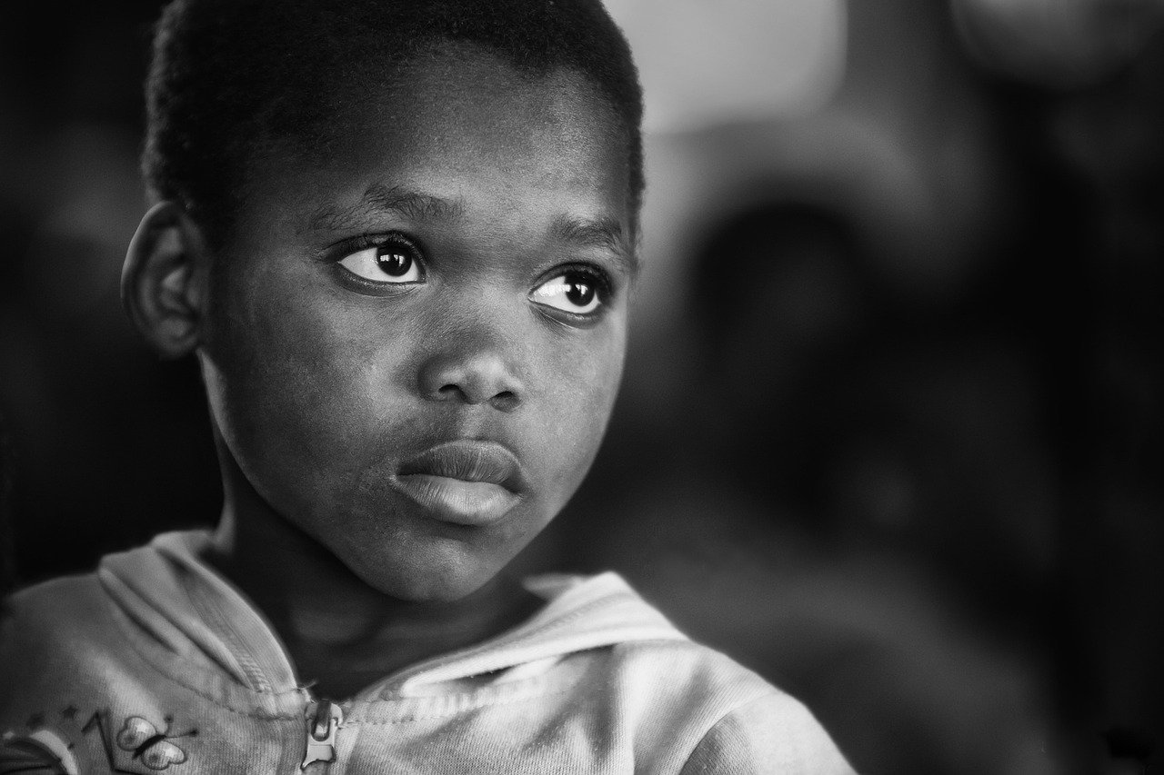 boy, african, black and white