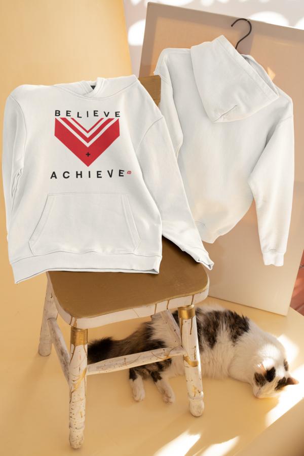 Believe Achieve Unisex pullover hoodie