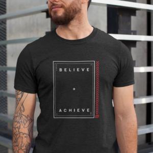 Believe Achieve Unisex Jersey Tshirt 2