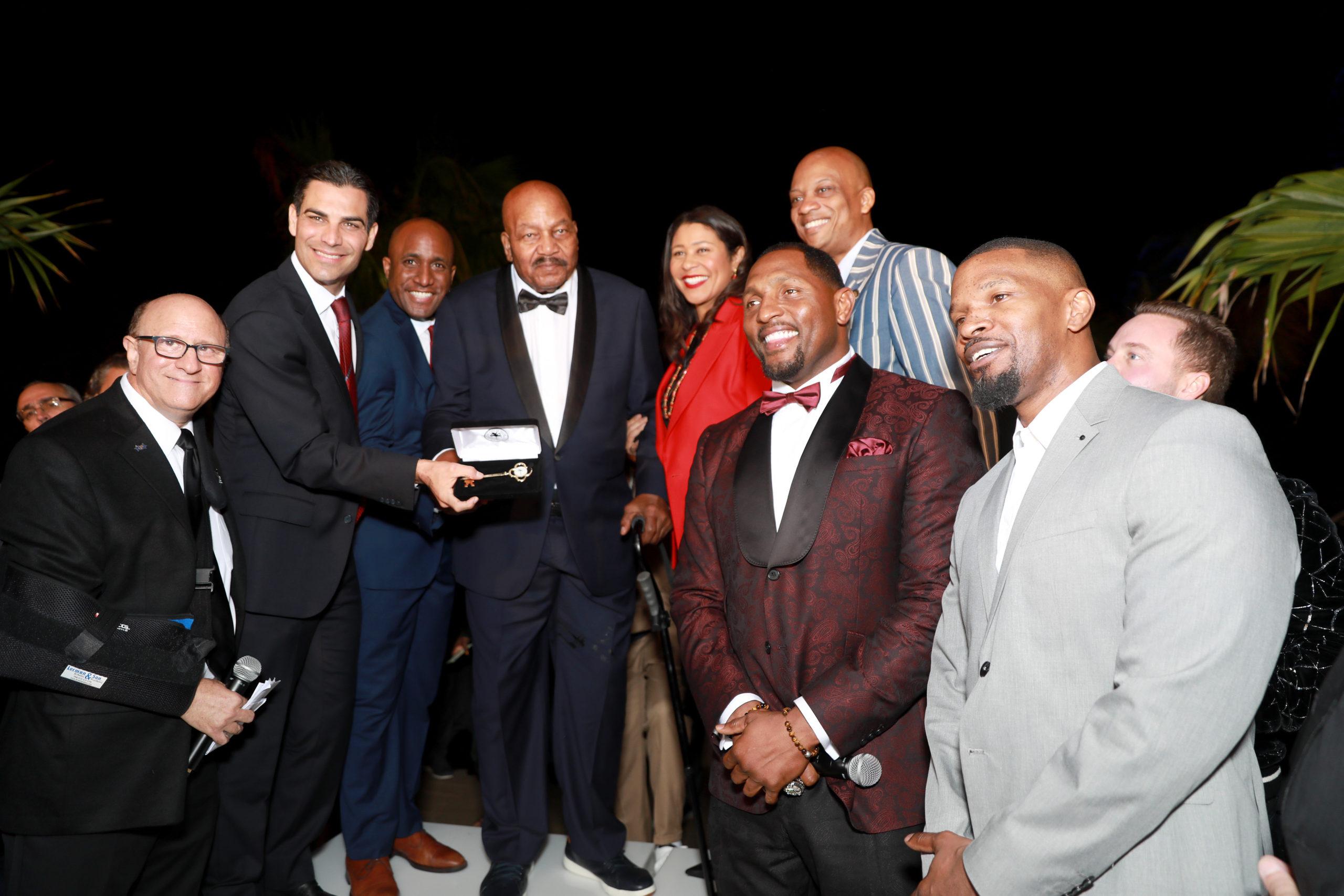 VIP Party Honors Jim Brown Before Super Bowl LIV