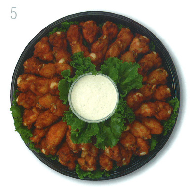 Star Market Wings Tray