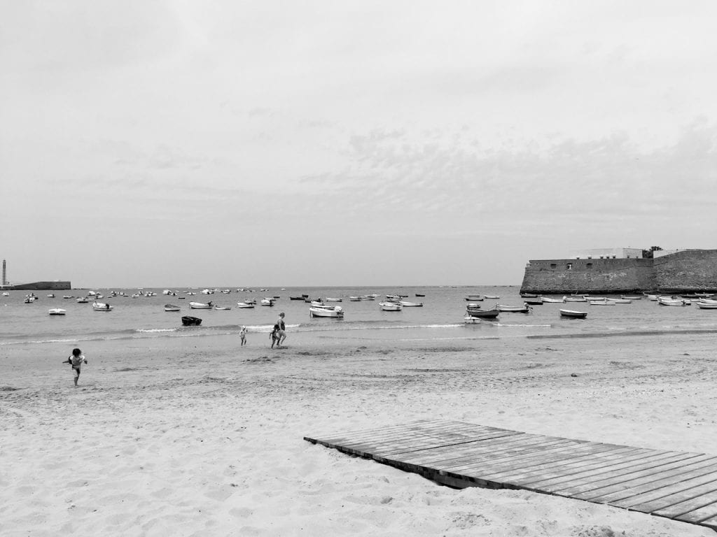 Black and White Cadiz beach