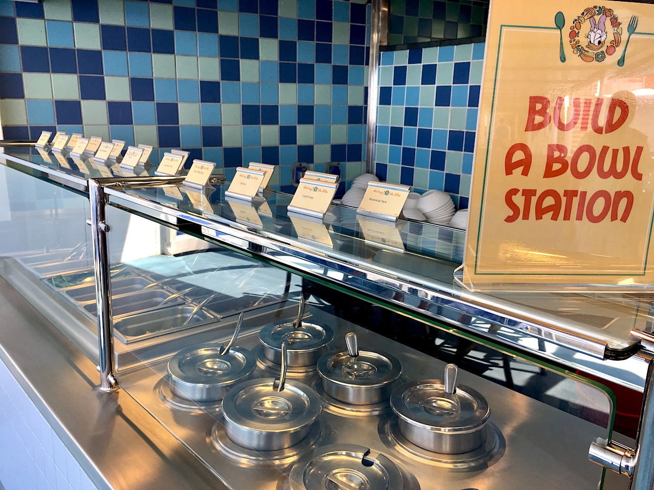 Build a Bowl Station on board the Disney Magic is the perfect place for a mid-afternoon healthy snack