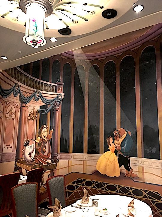 Lumiere's Restaurant detail on board the Disney Magic