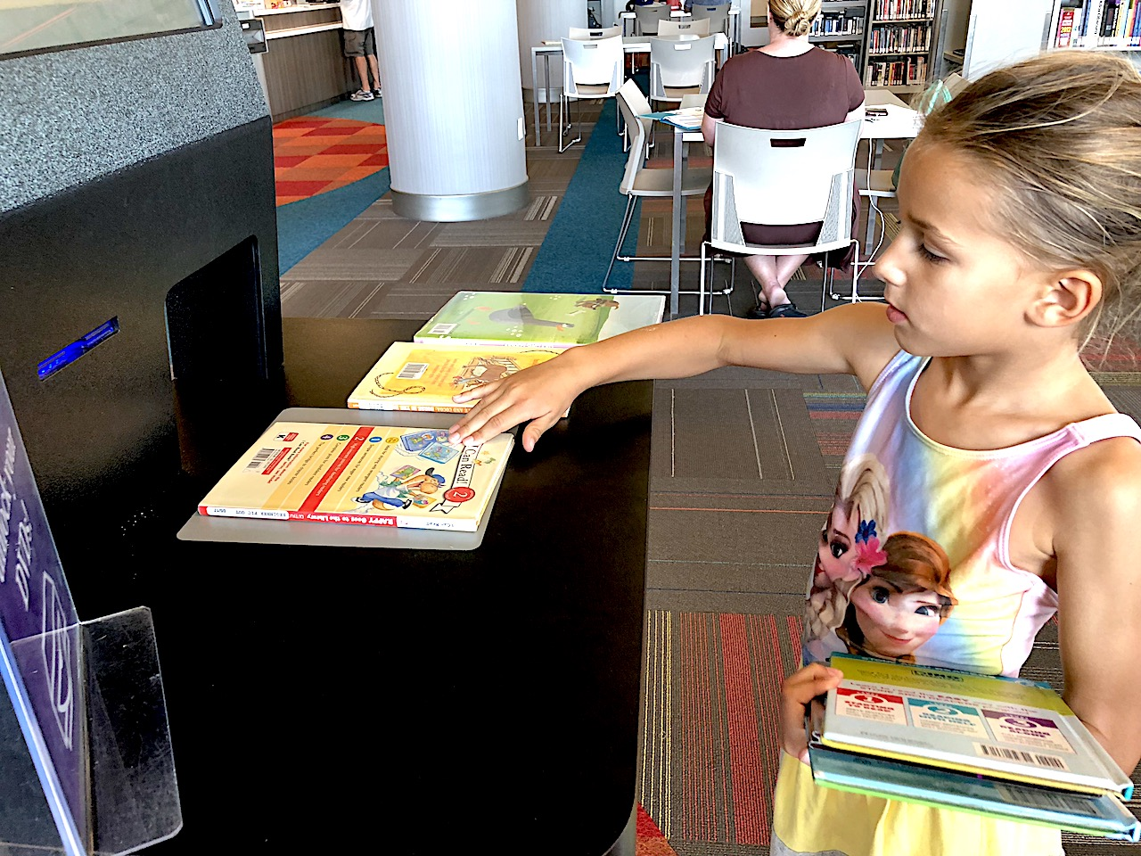 Take your child to the library to give her a love for reading