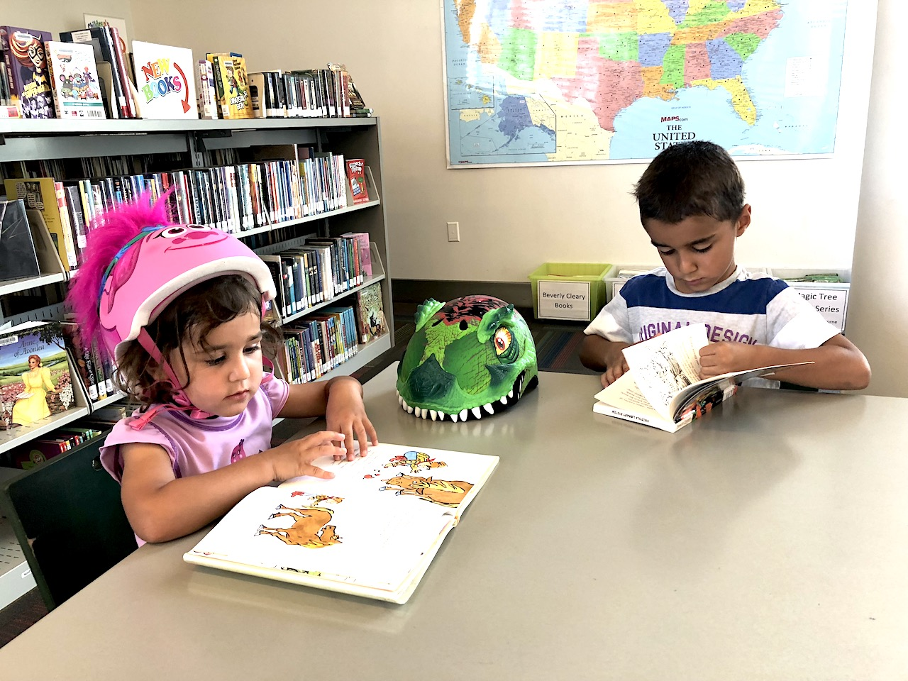 Talking your child to the library will give them good reading habits