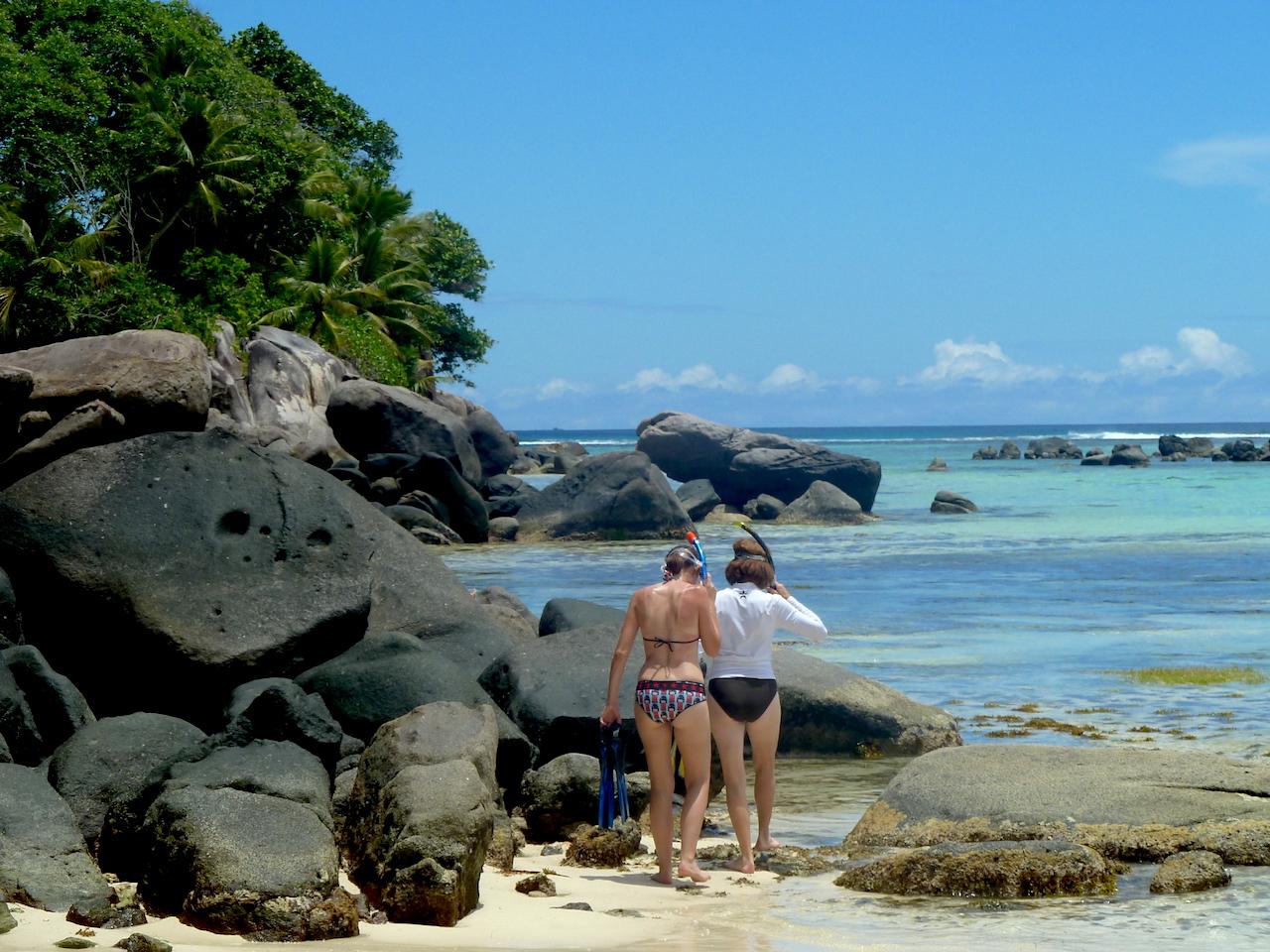 Snorkeling at Anse Royale Beach on Mahe, Seychelles #Mahe #Seychelles #AnseRoyaleBeach #MaheBeach #SeychellesBeach