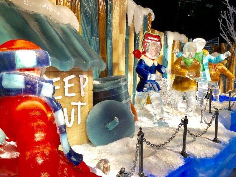 ICE! at Gaylord Palms - Experience True Cold in Orlando, FL   Snow and Ice in Orlando   Gaylord Palms Resort and Convention Center   Marriott Timeshare   #ICE #ICEatGaylordPalms #familytravel #travelwithkids #orlando #orlandoFL #VisitOrlando #orlandohotels #familyfriendlyhotel #hotelinOrlando #hotelnearDisneyWorld #icetubingOrlando