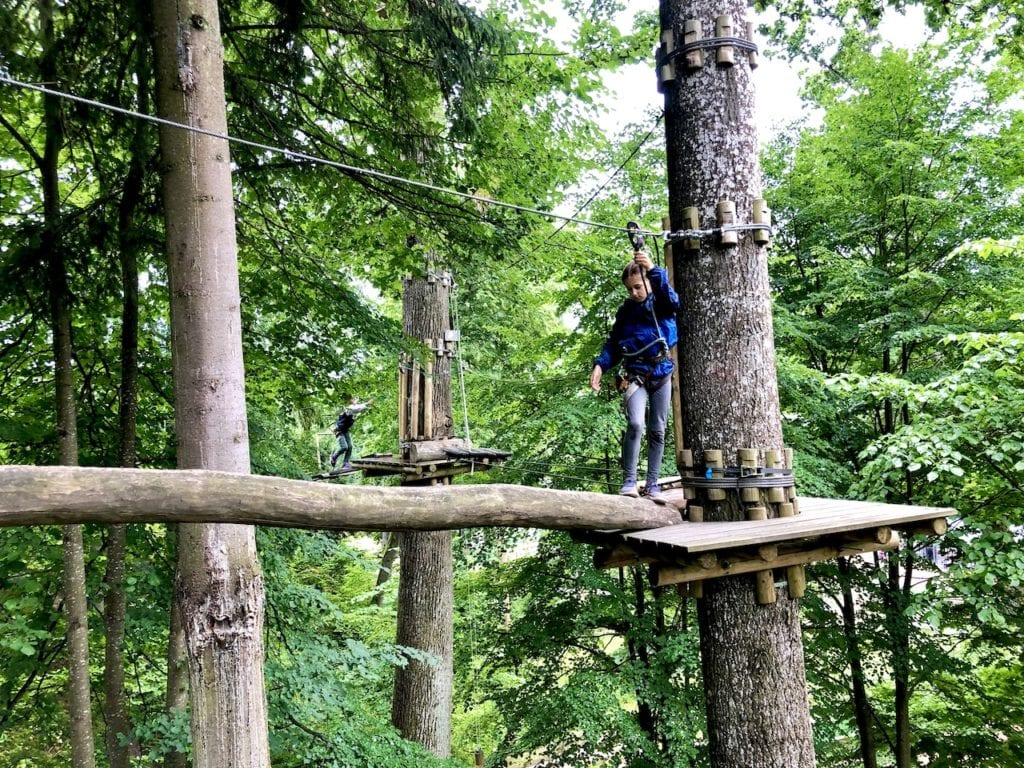 Sigulda Tarzan: Thrilling Family Day Trip Near Riga, Latvia   Adventure park in Latvia   Largest tree top obstacle course in the Baltics   Adventure park in the Baltics   Longest zip line in the Baltics   Zip lining Latvia   Riga road trips with kids   What to do in Riga with kids   #latvia #latviatravel #riga #baltictravel #adventurecourse #rigadaytrip #familytravel