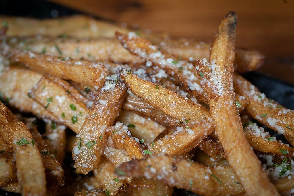 Garlic Parm fries close up