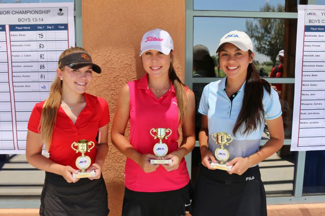 (left to Right): Annabelle Huether (3rd), Alexis Linam (2nd), Anne Transier (1st)