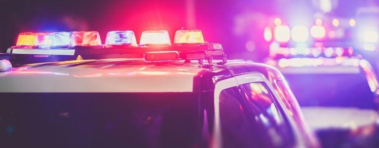 flashing police car lights criminal law fargo north dakota
