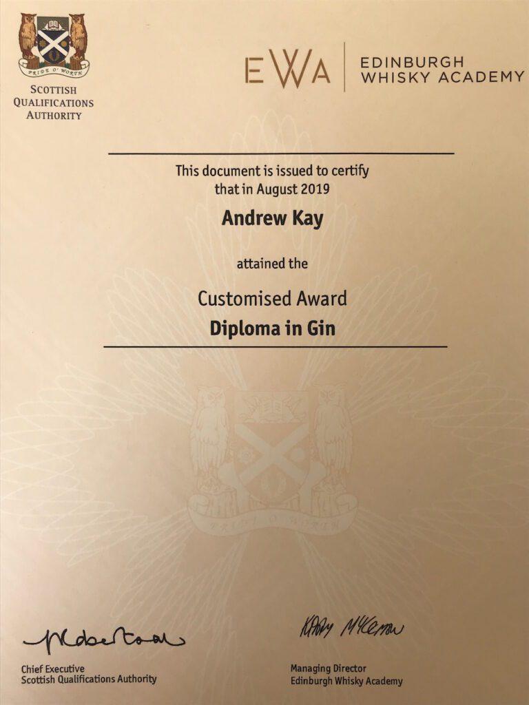 Diploma in Gin