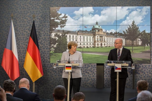 Angela-Merkel-Visits-Prague