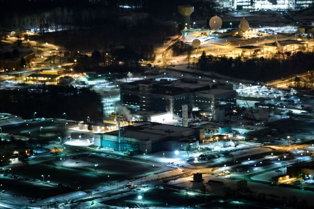 A helicopter view of the National Security Agency January 28, 2016 in Fort Meade, Maryland. / AFP / Brendan Smialowski (Photo credit should read BRENDAN SMIALOWSKI/AFP/Getty Images)
