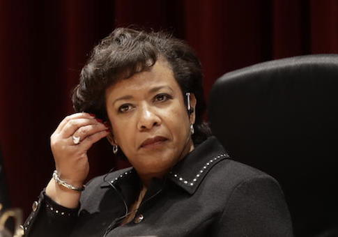 US attorney general, Loretta E. Lynch attends a conference on organised crime in Rome, Thursday, Oct. 20, 2016. (AP Photo/Gregorio Borgia)