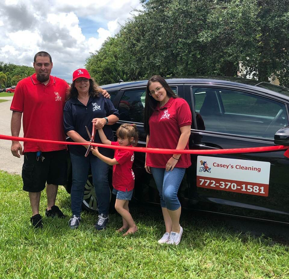 Casey's Cleaning of Port St. Lucie, Florida grand opening