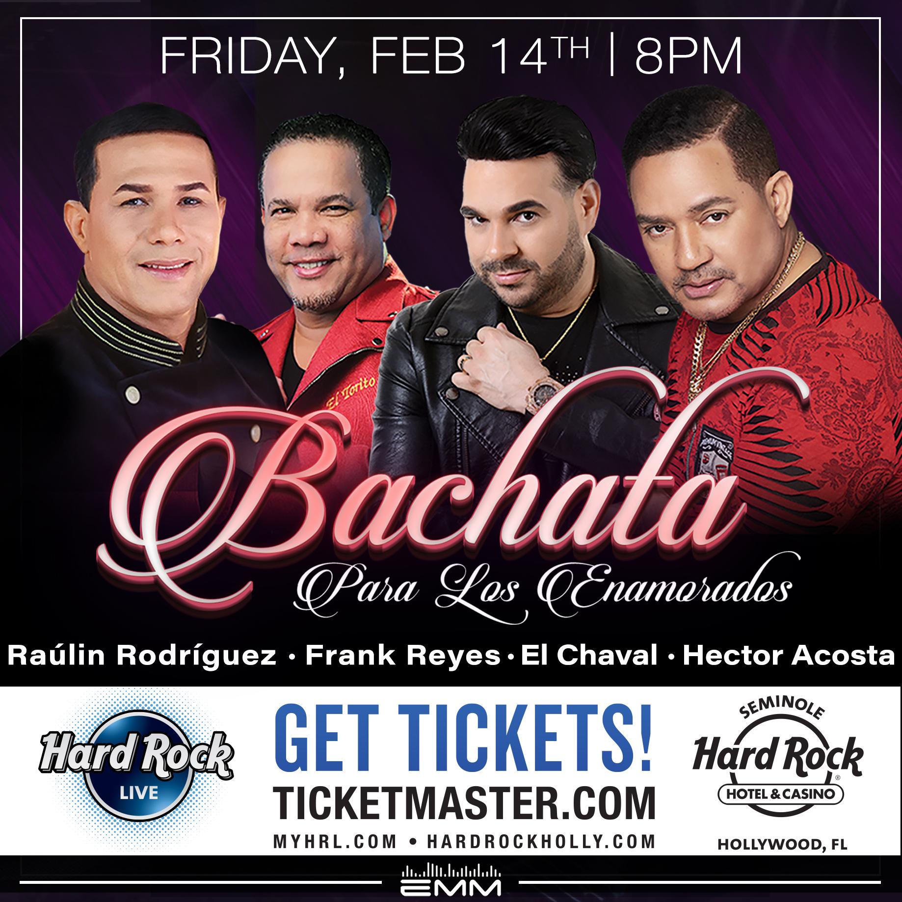 """Te gusta la bachata? Llega el """"Bachatazo para Enamorados"""" 14 de Febrero – Hard Rock Live"""