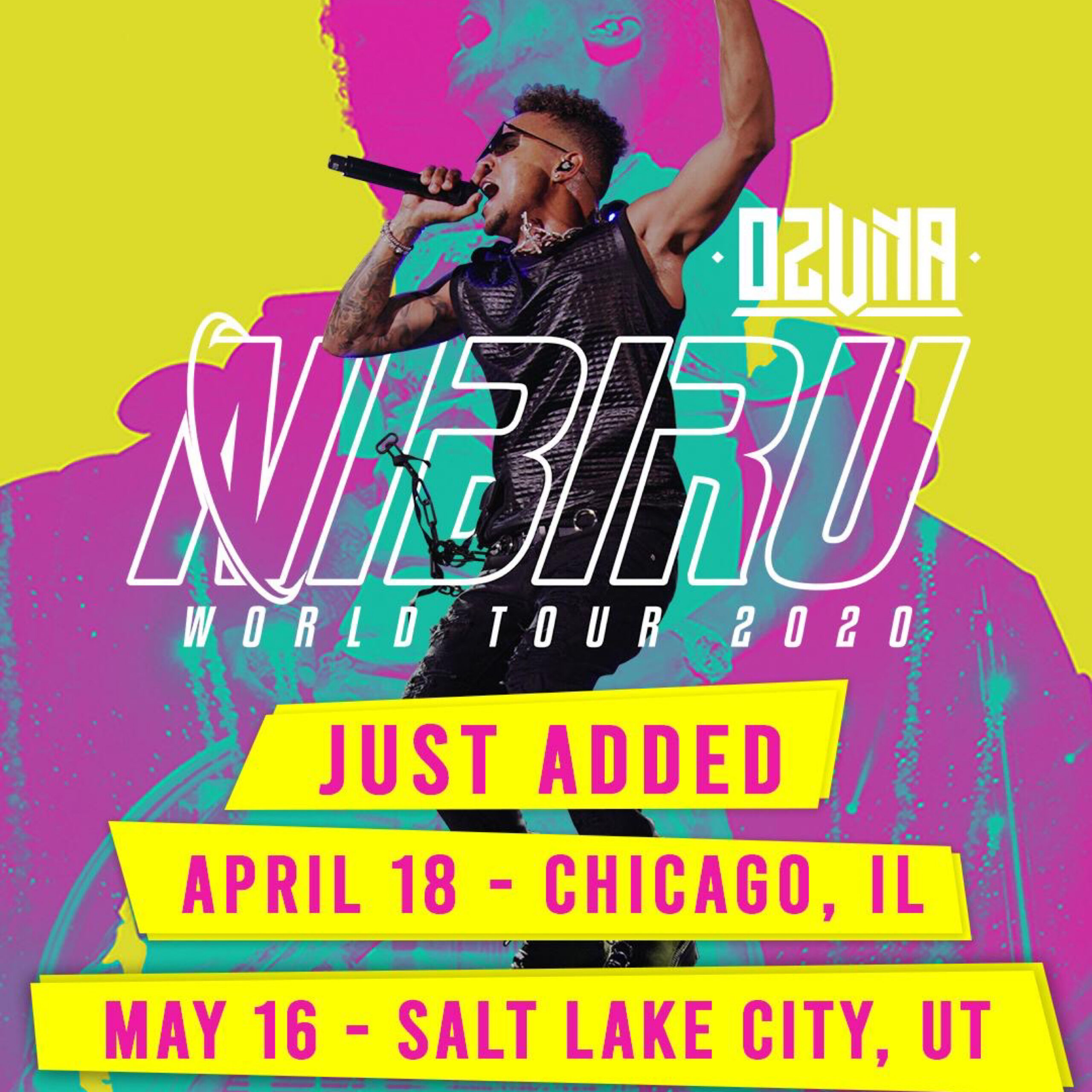 OZUNA ANNOUNCES MORE U.S. DATES OF NIBIRU WORLD TOUR 2020