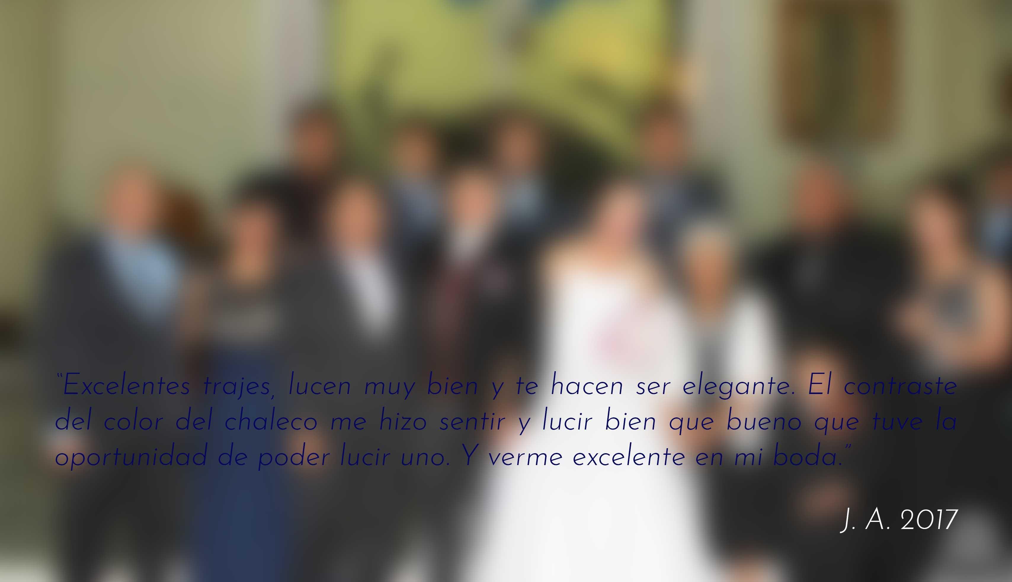 Traje para novio con chaleco, Ciudad de México