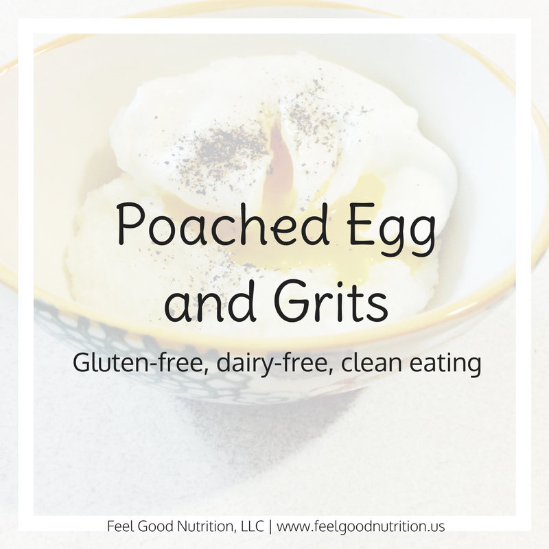 Poached Egg and Grits