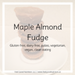 Maple Almond Fudge