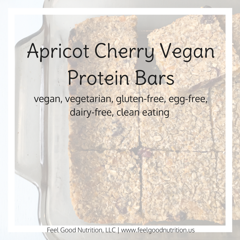 Apricot Cherry Vegan Protein Bars