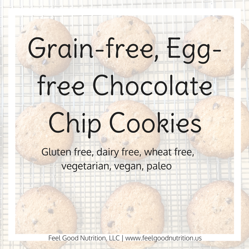 Grain-free, Egg-free Chocolate Chip Cookies