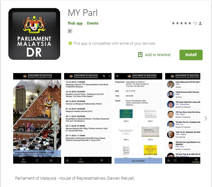 My Parl Apps