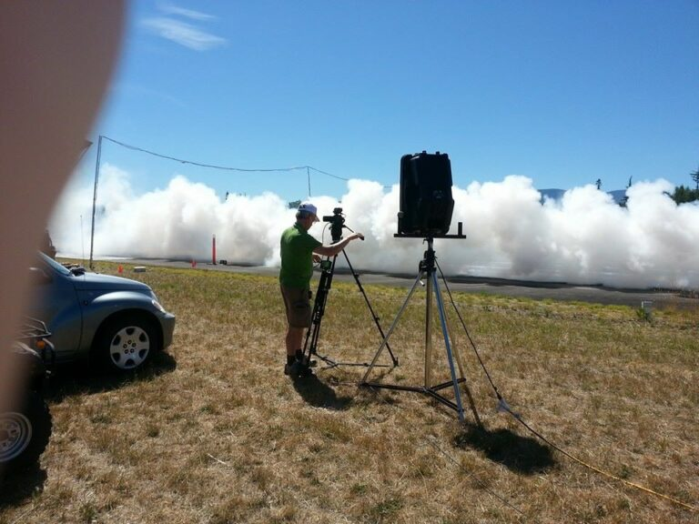 Allen Filming Drag racing