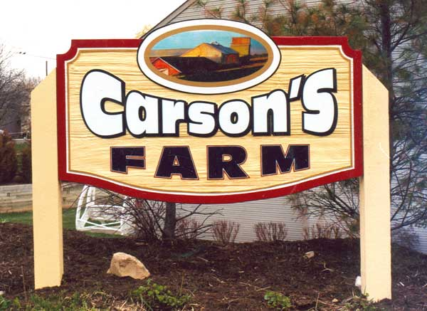 Carson's Farm Exterior Sign