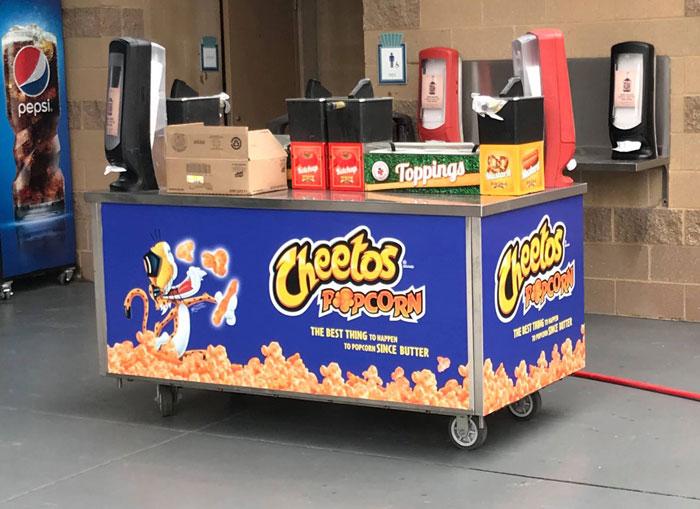 Cheetos Popcorn Cart Wrap