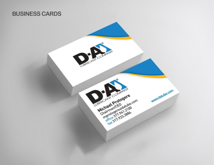 D-A Lubricant Company Business card design