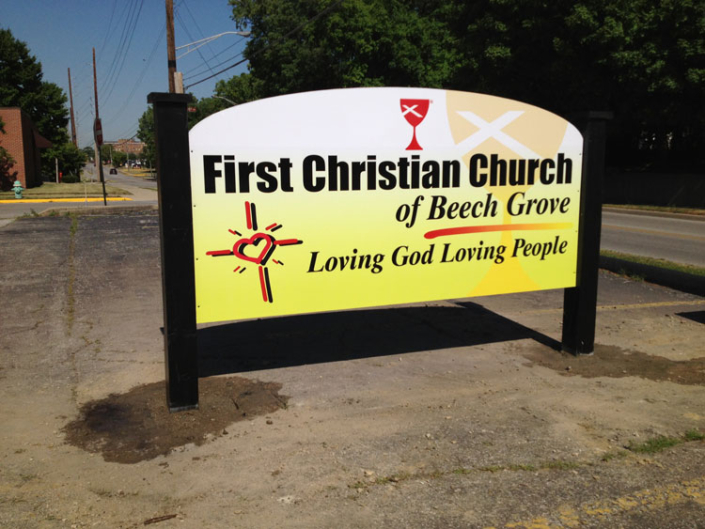 First Christian Church of Beech Grove Exterior Sign