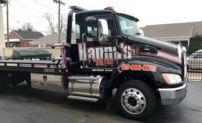 Hanna's Wrecker Parts & Recycling Truck Decals